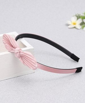 Babyhug Hairband With Bow Applique - Pink