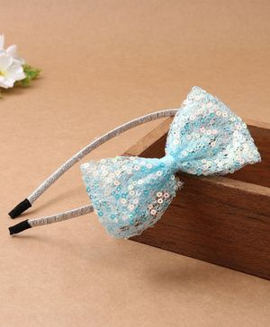 Babyhug Hair Band Bow Applique - Blue