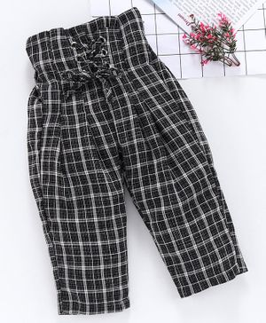 Kookie Kids Full Length Checked Trousers - Black