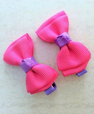 Angel Closet Bow Hair Clips - Pink