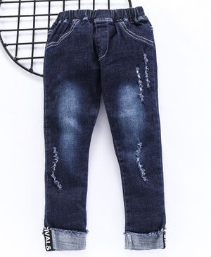 Lekeer Kids Full Length Jeans - Navy Blue
