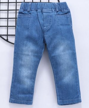 Reiki Trees Full Length Solid Jeans - Blue