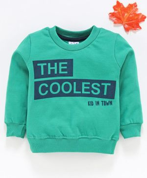Simply Full Sleeves Sweatshirt  - Sea Green