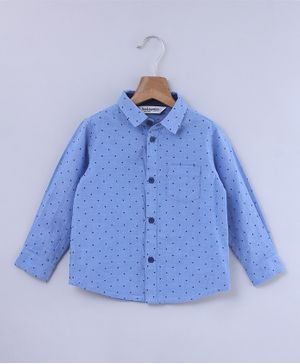 Beebay Star Print Full Sleeves Shirt - Blue