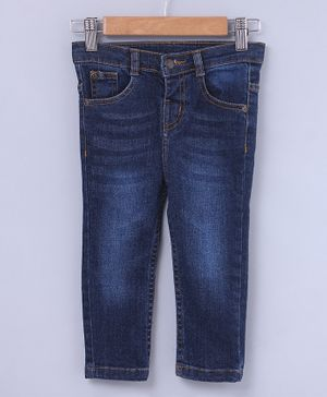 Beebay Solid Full Length Jeans - Blue