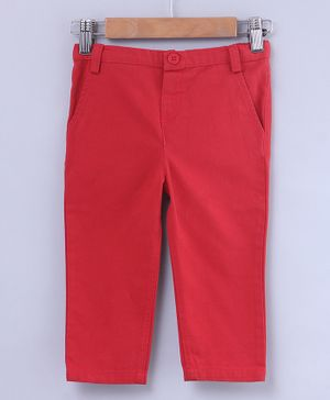 Beebay Full Length Solid Pants - Red