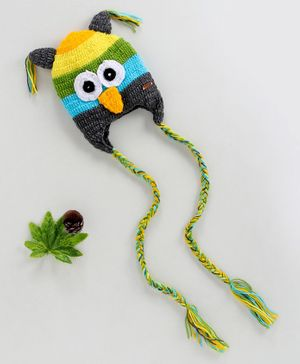 Knitting By Love Angry Bird Crochet Cap - Multi Colour