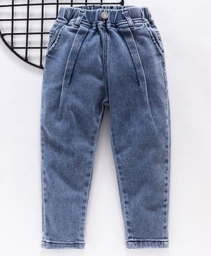 Little One Full Length Solid Jeans - Blue