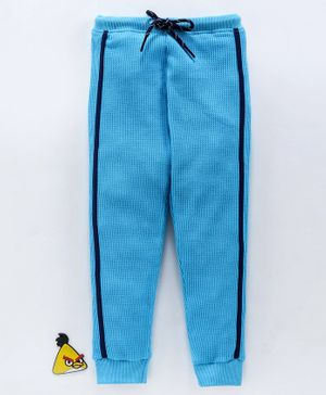 Bodycare Full Length Fleece Track Pant With Drawstring - Blue
