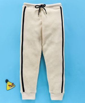 Bodycare Full Length Fleece Track Pant With Drawstring - Off White