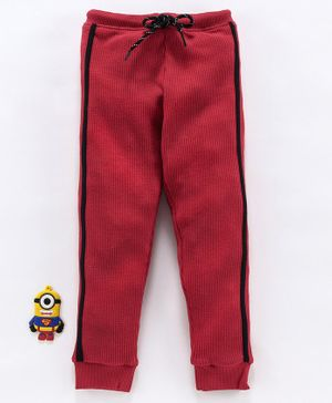Bodycare Full Length Fleece Track Pant With Drawstring - Maroon