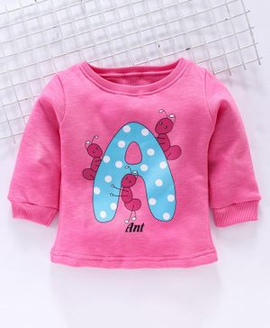 Bodycare Full Sleeves Printed Winter Wear Tee - Pink
