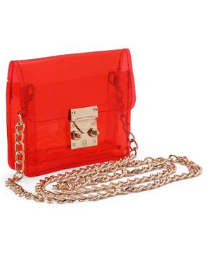 Metal Sling Bag - Red