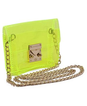 Metal Sling Bag - Lime Green