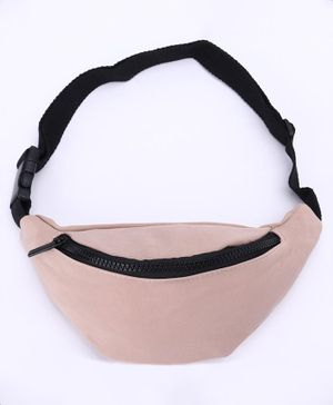 Solid Sling Bag With Adjustable Strap - Pink