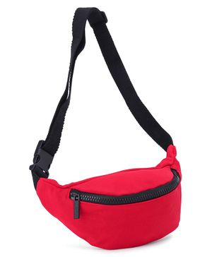 Solid Sling Bag With Adjustable Strap - Red