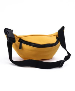 Solid Sling Bag With Adjustable Strap - Yellow