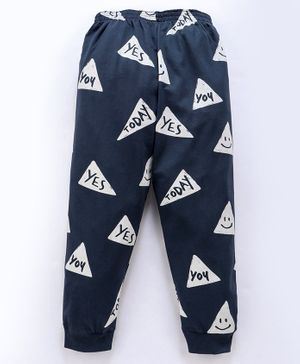 Doreme Full Length Lounge Pant Triangle - Navy