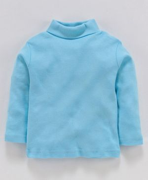 Zero Full Sleeves Winter Wear Tee - Aqua Blue