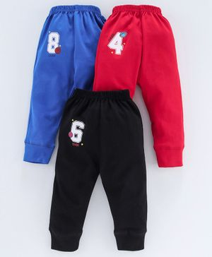 Simply Full Length Lounge Pants Pack of 3 - Red Black Blue