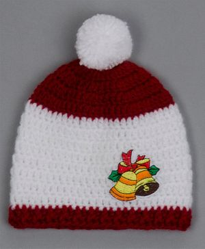 Buttercup from KnittingNani Christmas Bells Detailed Cap - Red