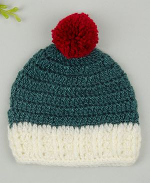 Buttercup from KnittingNani Pom Pom Detailed Cap - Green
