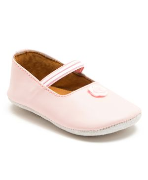 Beanz Flower Detailed Booties - Light Pink