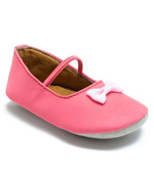 Beanz Bow Design Booties - Pink