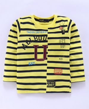 Tacos Striped Full Sleeves Tee - Yellow