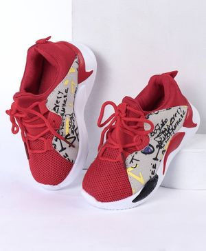 Cute Walk by Babyhug Sports Shoes - Red Beige
