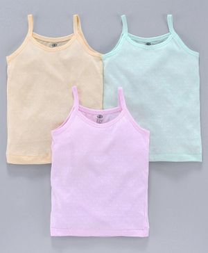 Zero Sleeveless Slips Pack of 3 - Green Pink Yellow