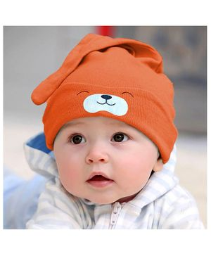 Syga Puppy Long Tailed Design Baby Cotton Cap Orange - Diameter 17 cm