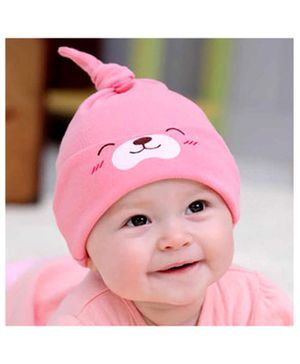 Syga Puppy Long Tailed Design Baby Cotton Cap Pink - Diameter 17 cm