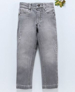 UFO Solid Full Length Jeans - Dark Grey