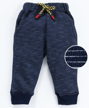 Cucumber Full Length Striped Lounge Pant - Navy