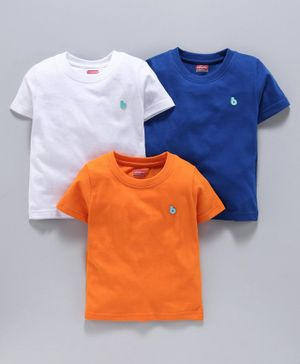 Babyhug Half Sleeves T-Shirt Pack of 3 - Multicolor