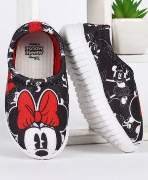 Disney Minnie Mouse Printed Casual Shoes - Black
