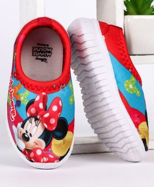 Disney Minnie Mouse Printed Casual Shoes - Red