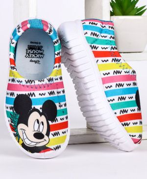Disney Mickey Mouse Printed Casual Shoes - White