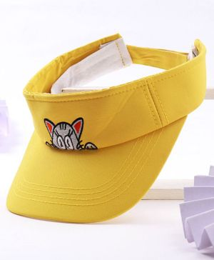Babyhug Cap Kitty Embroidery - Yellow