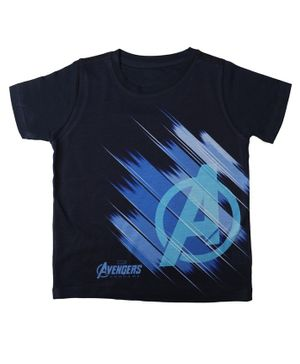 Marvel By Crossroads Half Sleeves Avengers Endgame Printed Tee - Black