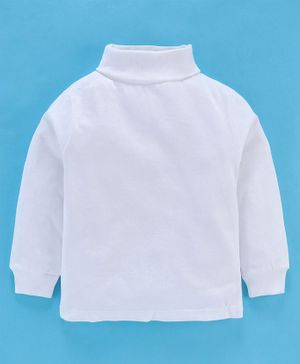 Simply Full Sleeves Solid Color Tee - White