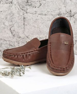 Cute Walk by Babyhug Formal Shoes - Brown