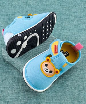 Cute Walk by Babyhug Canvas Shoes Beat Patch - Sky Blue