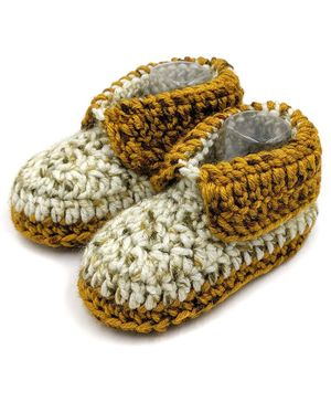 Magic Needles Dual Shaded Booties - Yellow