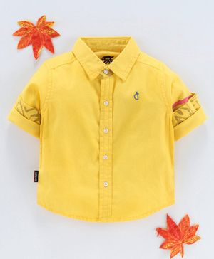 Gini & Jony Full Sleeves Solid Shirt - Yellow