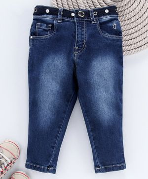 Gini & Jony Full Length Washed Jeans - Dark Blue