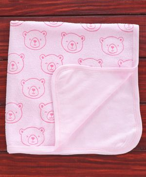Pink Rabbit Terry Towel Teddy Bear Design - Pink