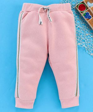 Fox Baby Full Length Lounge Pant With Drawstring - Pink