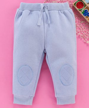 Fox Baby Full Length Fleece Bottoms With Drawstring - Blue
